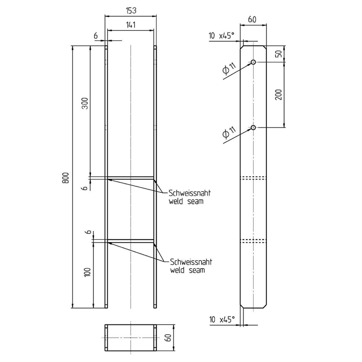H Pfostenträger 800 : h pfostentr ger 141 x 800 mm verzinkt befestigungsfuchs ~ Watch28wear.com Haus und Dekorationen