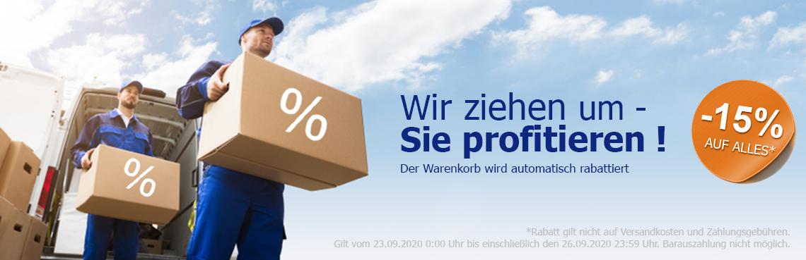 15% Rabatt auf den gesamten Warenkorb
