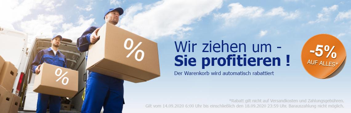 5% Rabatt auf den gesamten Warenkorb