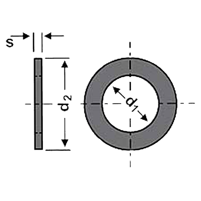 Skizze Unterlegscheibe DIN 9021 Polyamid