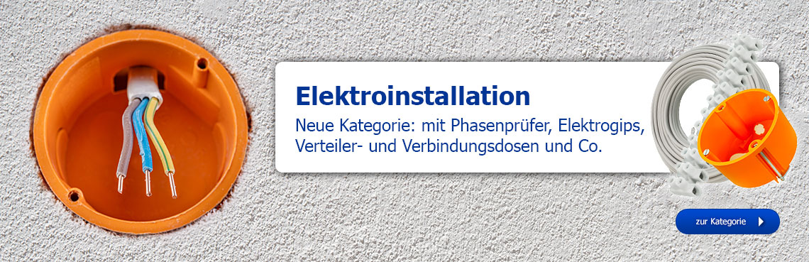 Neue Kategorie: Elektroinstallation