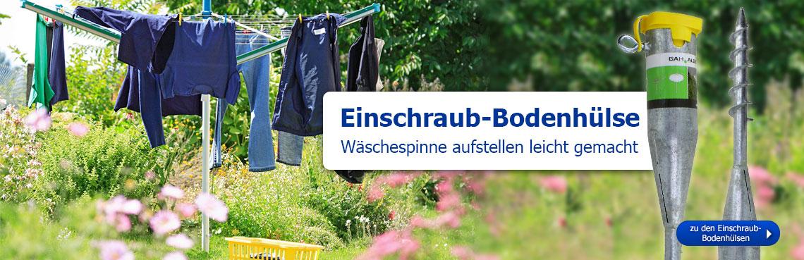 Einschraub-Bodenhülse: Wäschespinne aufstellen leicht gemacht