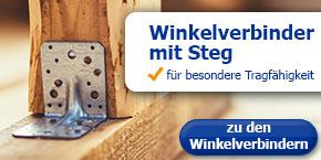 Winkelverbinder mit Steg - für besondere Tragfähigkeit!