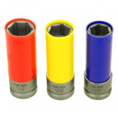 Stecknüsse rot, gelb, blau