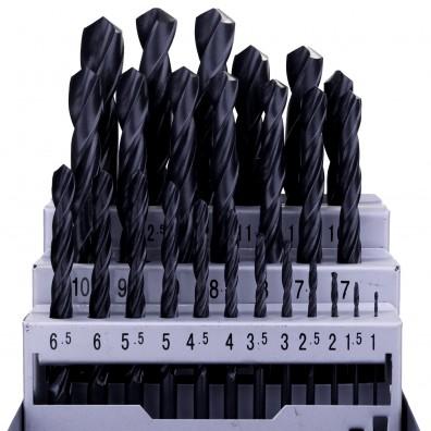 Inhalt des 25tlg. Metallspiralbohrer-Sets