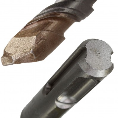 Detailansicht eines Hammerbohrers