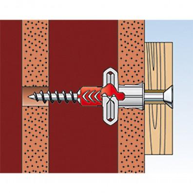 fischer Duopower Dübel rot-grau Montage in Lochbaustoffen Schritt 5