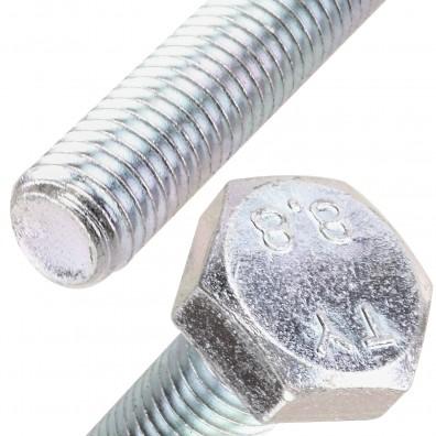 Detailansicht Sechskantschraube - DIN 933 - verzinkt 8.8 DiSP