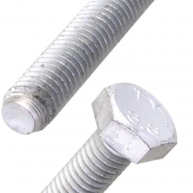 Detailansicht Sechskantschraube zinklamellenbeschichtet DIN 933
