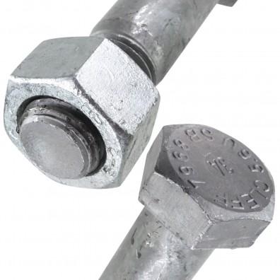 Sechskant - Passschrauben  DIN 7968 Stahl 5.6 feuerverzinkt