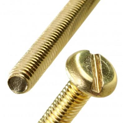 Flachkopfschraube DIN 85 Messing
