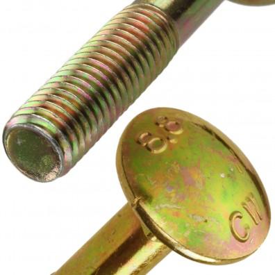 Flachrundschrauben DIN 603 gelb verzinkt