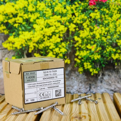Verpackung von Edelstahl C1 Terrassenschrauben