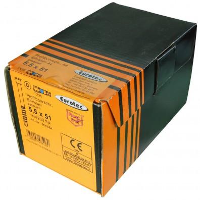 Eurotec Terrassen-Profilbohrschraube Edelstahl C1 Verpackung