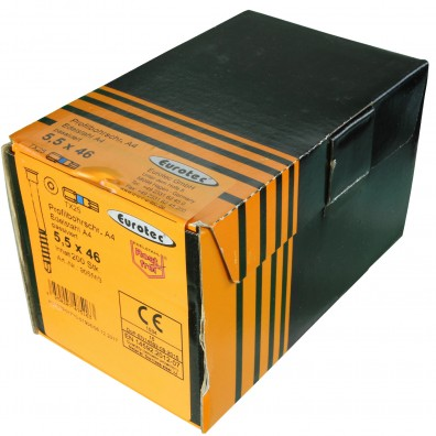Eurotec Terrassen-Profilbohrschraube Edelstahl A4 Verpackung