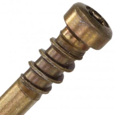 Zylinderkopf mit Unterkopfgewinde Reisser Terrassenschrauben Edelstahl A4 antik