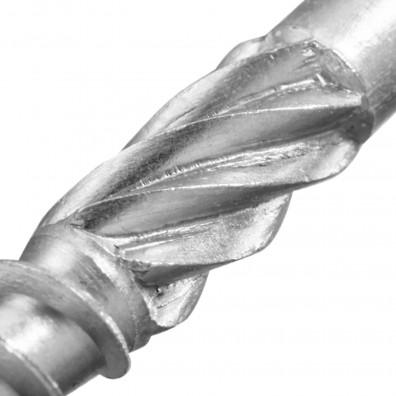 Schaft einer Terrassenschraube mit Reibgewinde