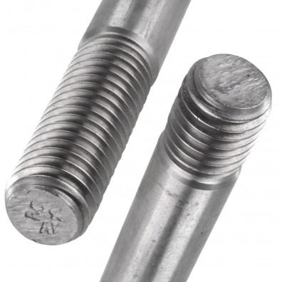 Detailansicht Stiftschraube Edelstahl A4 DIN 939
