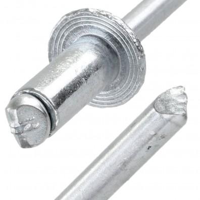 Blindnieten 3,2x8 Stahl-Stahl verzinkt DIN 7337 mit Flachkopf und Sollbruchdorn Form A St/ückzahl 100 Popnieten Flachrundkopf Nieten