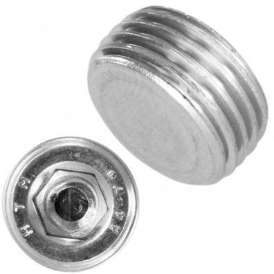 Detailansicht Verschlussschraube - DIN 906 - kegelige Rohrgewinde - Edelstahl A4