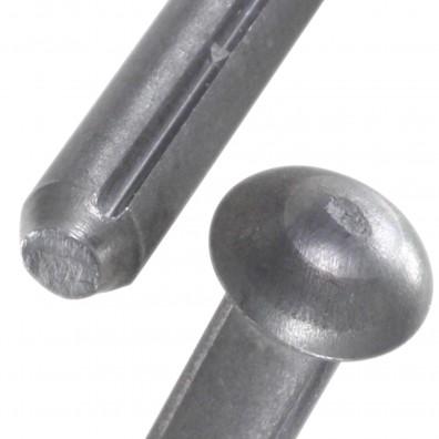 Halbrundkerbnägel DIN 1476 Stahl - blank