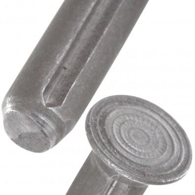 Detailansicht Senkkerbnägel - DIN 1477 - Stahl - blank