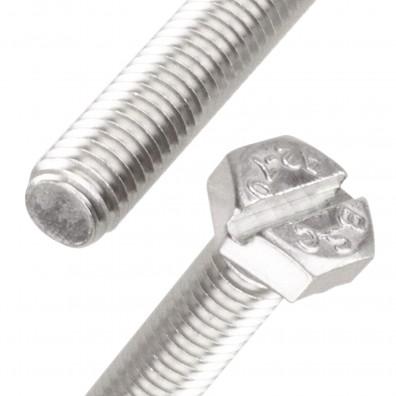 Detailansicht Sechskantschraube mit Schlitz Edelstahl A2 DIN 933