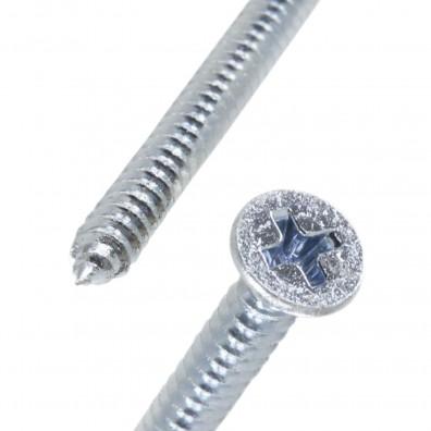 Detailansicht Senk - Blechschraube, Form C, mit Spitze, DIN 7982, verzinkt