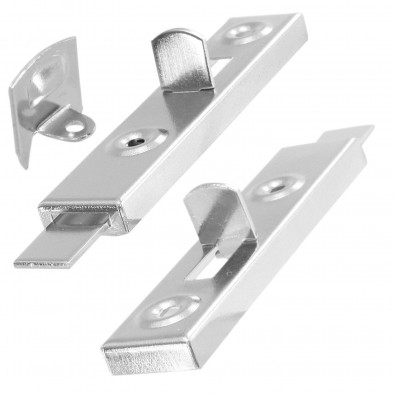2 St/ück 70 mm HSI M/öbelriegel gerade Metall vernickelt 922436