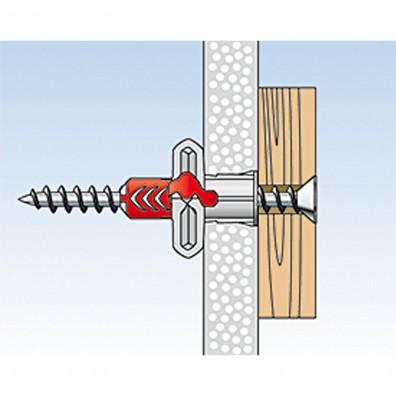 fischer Duopower Dübel rot-grau Montage in Plattenbaustoffen Schritt 4