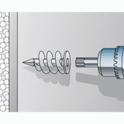 fischer FID Dämmstoffdübel weiß Montage in Dämmstoffplatten Schritt 1