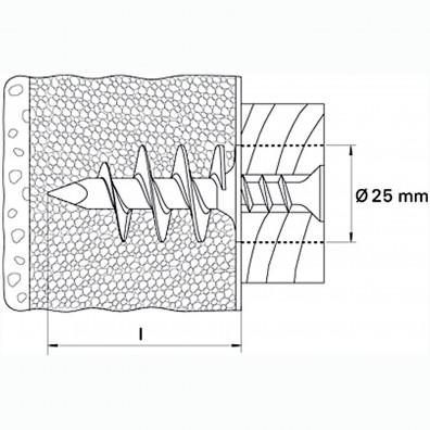 fischer FID Nylon-Dämmstoffdübel Skizze
