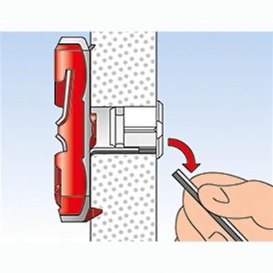 fischer DUOTEC Kippdübel Montage in Plattenbaustoffen Schritt 5