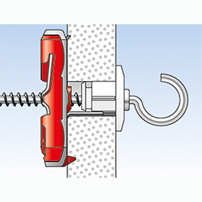 fischer DUOTEC Kippdübel Montage in Plattenbaustoffen Schritt 10