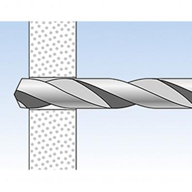 fischer DUOTEC Kippdübel Montage in Plattenbaustoffen Schritt 1
