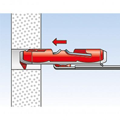 fischer DUOTEC Kippdübel Montage in Plattenbaustoffen Schritt 2