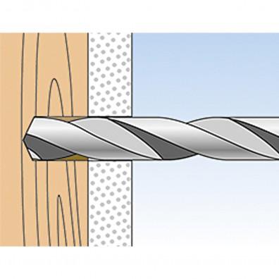fischer DUOTEC Kippdübel Montage in Vollbaustoffen Schritt 1