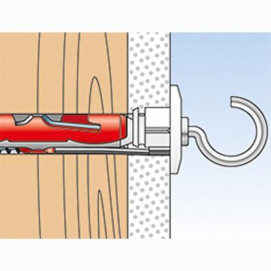 fischer DUOTEC Kippdübel Montage in Vollbaustoffen Schritt 6