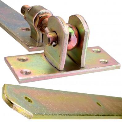 HAUS /& DACH Ladenband Set gelb verzinkt inkl Ladenbandl/änge: 200 mm Durchmesser Kloben: 10 mm Eng Kloben
