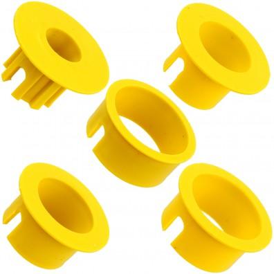 5 unterschiedliche Reduzierringe der Bodenhülse für Wäschespinnen