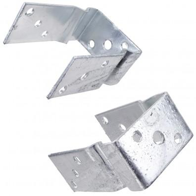 1 GAH U Pfostenträger aufdübelbar feuerverzinkt, mit Auflage 60 mm für 70 mm