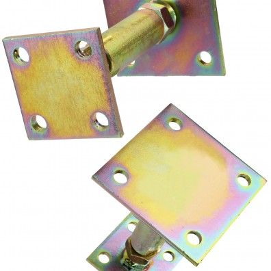 Pfostenträger 2 Platten gelb verzinkt