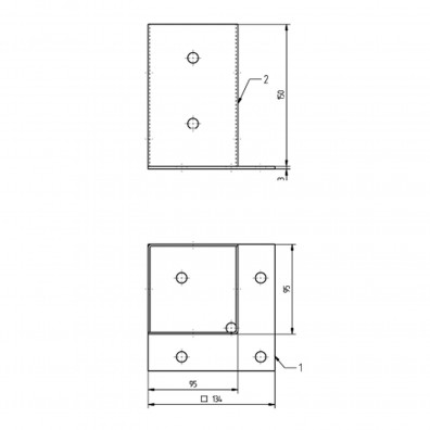 Aufschraubhülse Skizze mit Maßangaben
