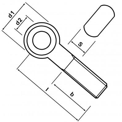 Skizze Augenschraube DIN 444