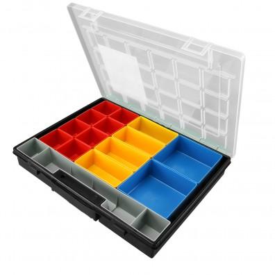 Allit Sortimentskasten EuroPlus Flex 37 mit Boxen Deckel offen