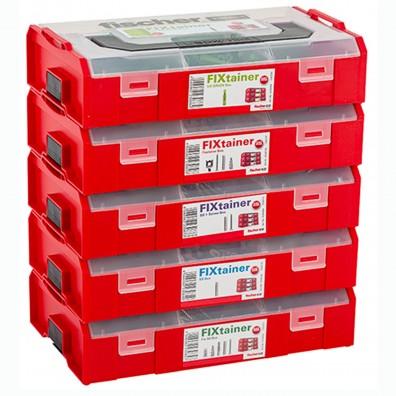 fischer FIXtainer Sortimentboxen gestapelt