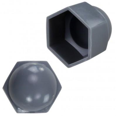 Detailansicht KORREX - Schutzkappen - Kunststoff - in grau - für Sechskantmuttern