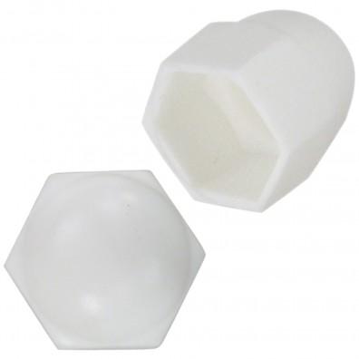Detailansicht KORREX - Schutzkappen - Kunststoff - in weiß - für Sechskantmuttern