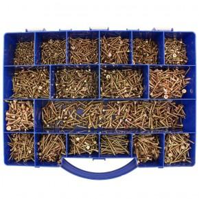 3150 tlg Spanplattenschrauben Sortiment Senkkopf gelb Torx 3x12 - 4,5x20