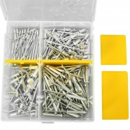 151 teiliges Blindnieten Sortiment 2,4 - 4,8 mm x 4 - 10 mm in stabiler Allit-Box